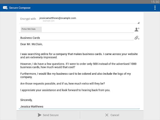 Business Class Email (BCE) screenshot 8