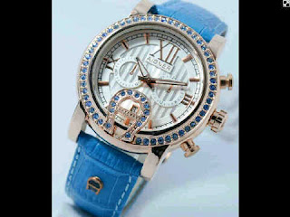 Jual jam tangan Aigner romawi ring softblue leather