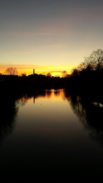Sunset River Severn in Shrewsbury by Alice Draws The Line