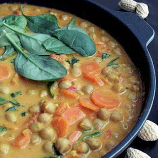 Easy Chickpea Curry with Peanuts and Coconut Milk Recipe