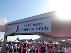 One of the local breast cancer treatment centers represented in the Expo area.