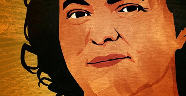 Portrait of Berta Cáceres, who was murdered on 3 March 2016 for her work as an indigenous rights activist and environmental defender in Honduras. Graphic: tuttogreen.it
