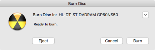 Burn the DVD in the drive