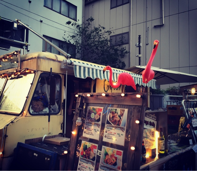 Adorable food truck which is part of the Commune 246 outdoor food court in Minami Aoyama in Tokyo. There is food and drink here to please everyone.