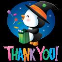 Pingüino Halloween - Feliz por los caramelos
