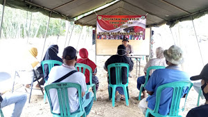 Satgas TMMD Kodim 0601/Pandeglang bekerjasama dengan Polres Pandeglang memberikan penyuluhan bidang Kamtibmas dan Narkoba