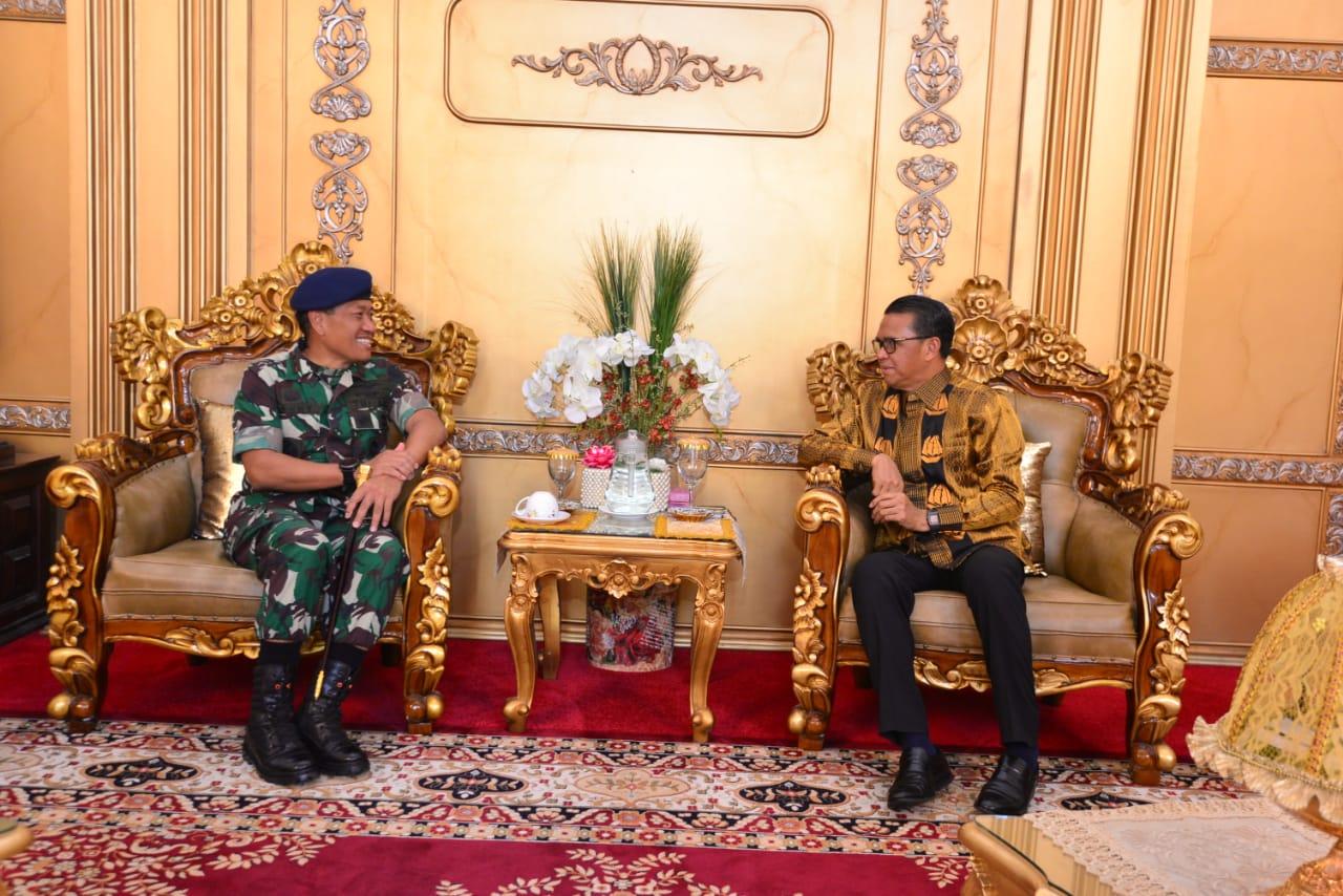 Gubernur Sulsel Sebut Kerja Sama Dengan TNI Merupakan Langkah Yang Baik