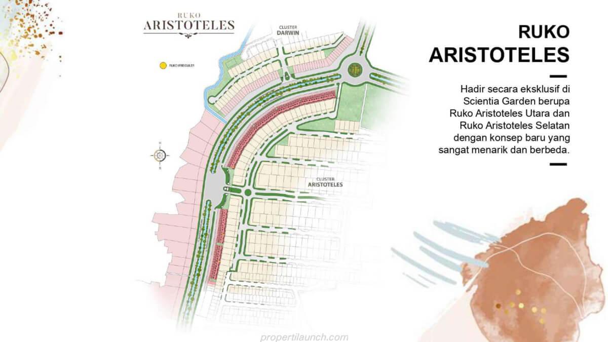 Siteplan Ruko Aristoteles Summarecon Serpong