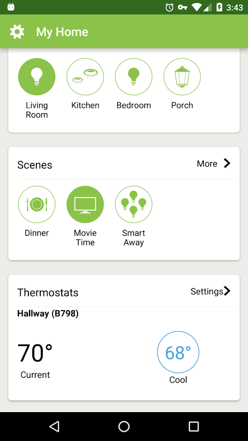 Lutron App for Caséta Wireless- screenshot