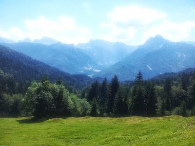 Blick nach Planica in Slowenien