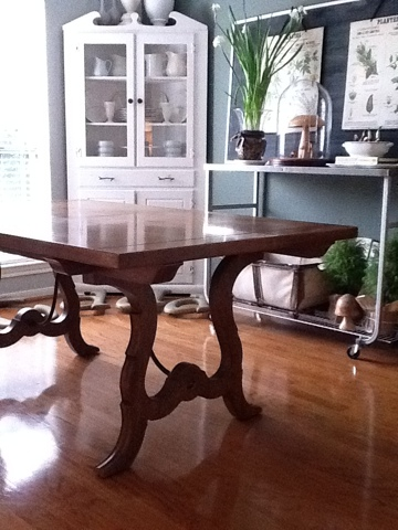 Youu0027re Not Seeing Things...itu0027s Another Dining Room Post. Remember This  Table? Itu0027s A Good Country French Reproduction Solid Wood Table I Found On  ...