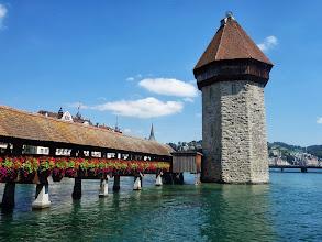 Photo: most Kapellbrücke s vodní věží