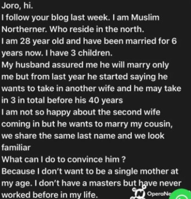 Woman crying over husband's decision