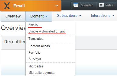 ExactTarget Content-Emails