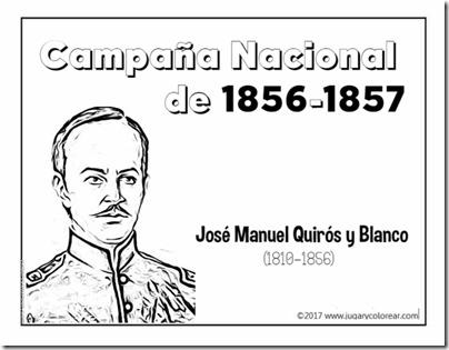 Campaña Nacional  de 1856-1857  José Manuel Quirós y Blanco (1)