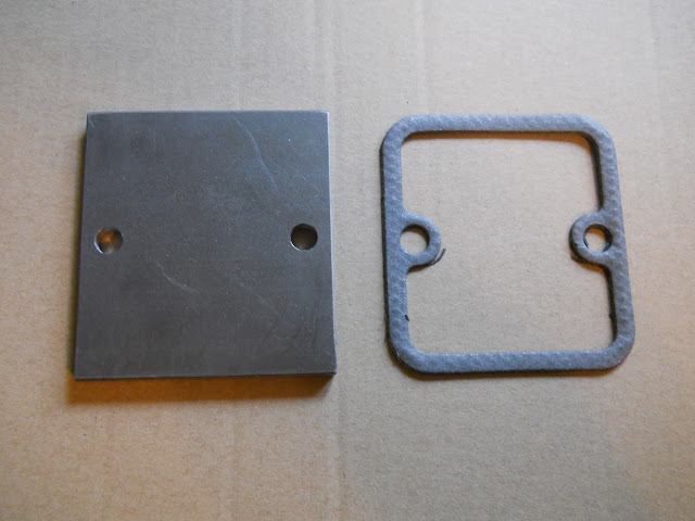 Mid 1955 and 1956 all heat riser plate and gasket, replaces rusted out original under intake manifold, comes with SS bolts.. 25.00