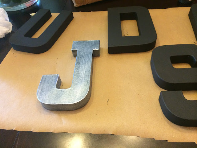 DIY galvanized letters