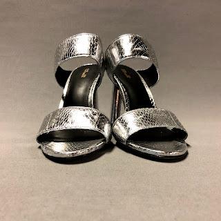 Diane von Furstenberg Metallic Snakeskin Sandals
