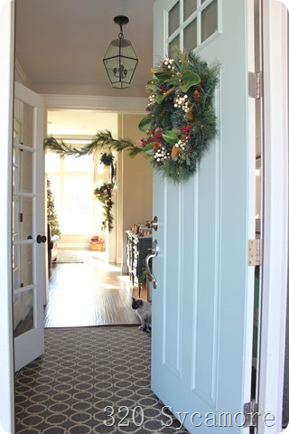 open door christmas wreath