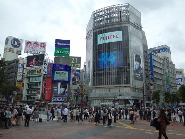 渋谷ハチ公口のスクランブル交差点