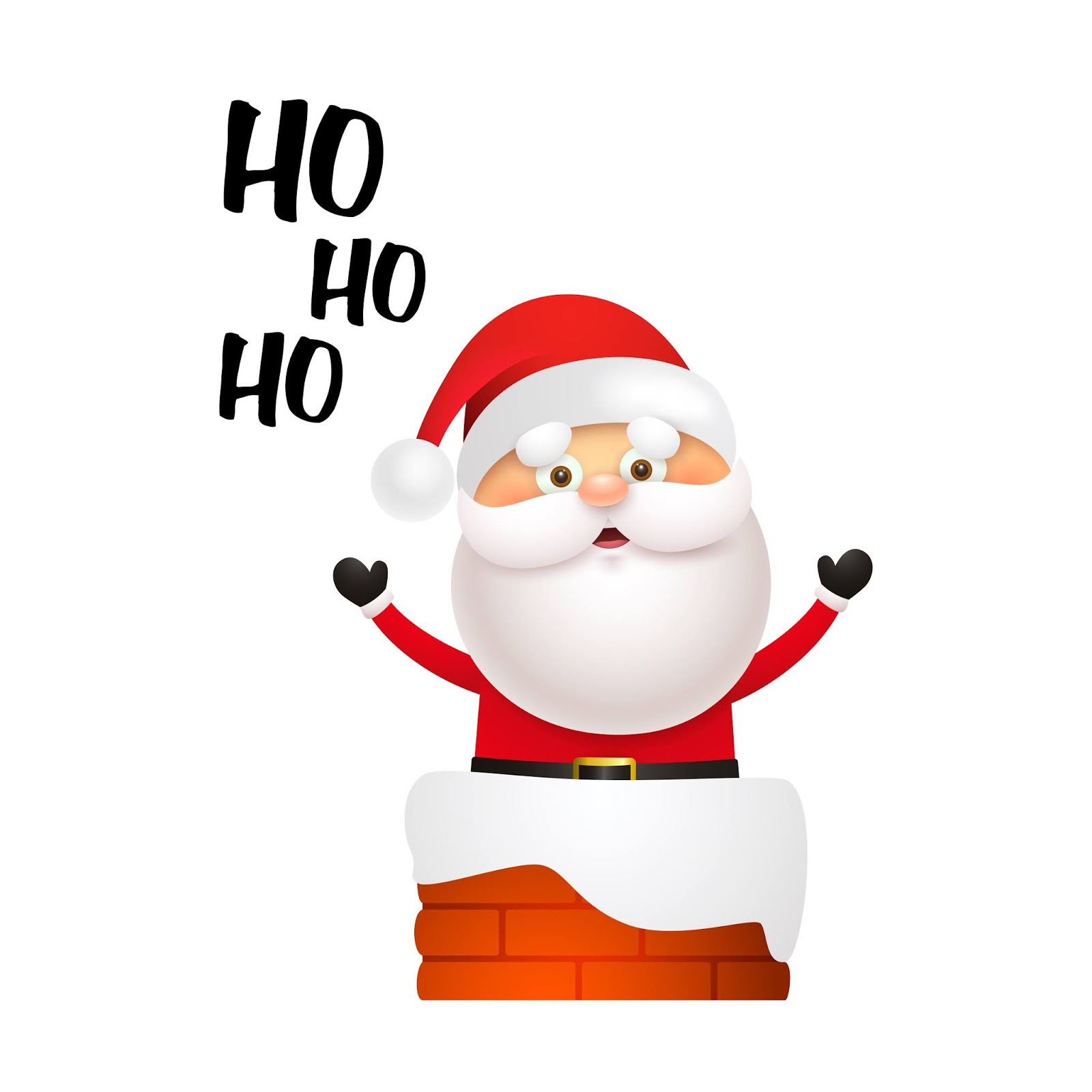 Laughing Santa Claus Getting Into Chimney Free Download Vector CDR, AI, EPS and PNG Formats