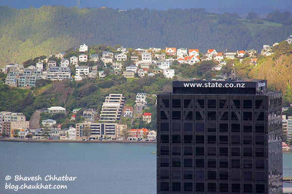 Another beautiful view from the Kelburn station of Wellington Cable Car