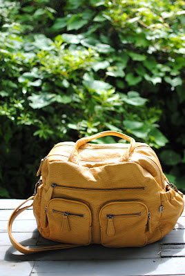 OiOi Mustard Faux Buffalo Carry All
