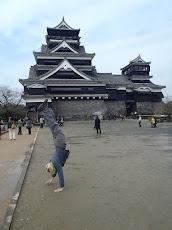 Handstand at Kumamoto Castle
