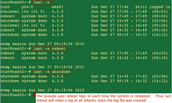 How to check last reboot time linux