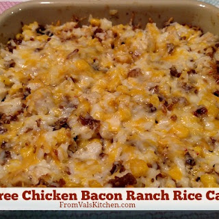 Gluten-free Chicken Bacon Ranch Rice Casserole