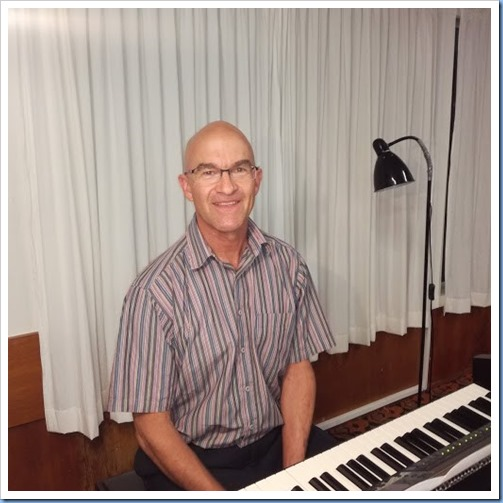 Warren Levick played the Club's Yamaha Clavinova CVP-509. Photo courtesy of Dennis Lyons.