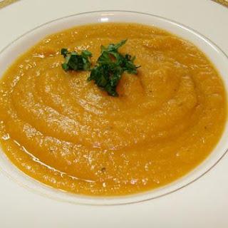 Sweet Potato and Celery Soup.