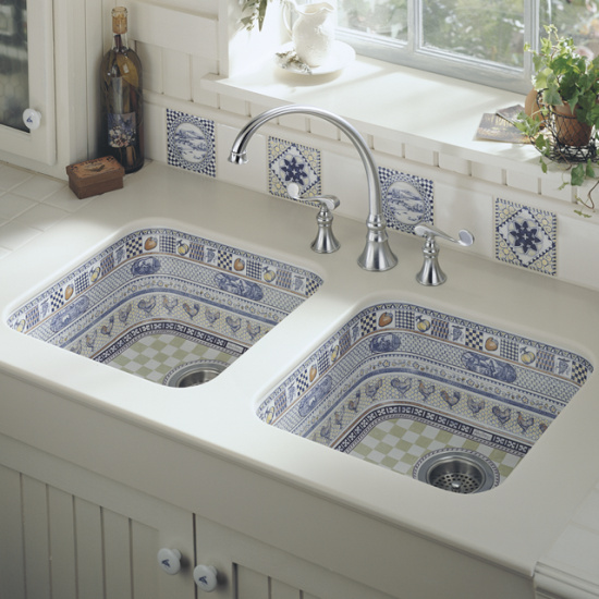 Wicker & Stitch: The Prettiest Kitchen Sink I've EVER Seen
