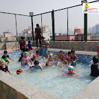 Water Play of Jr Kg Section(2017-18) at Witty World, Bangur Nagar