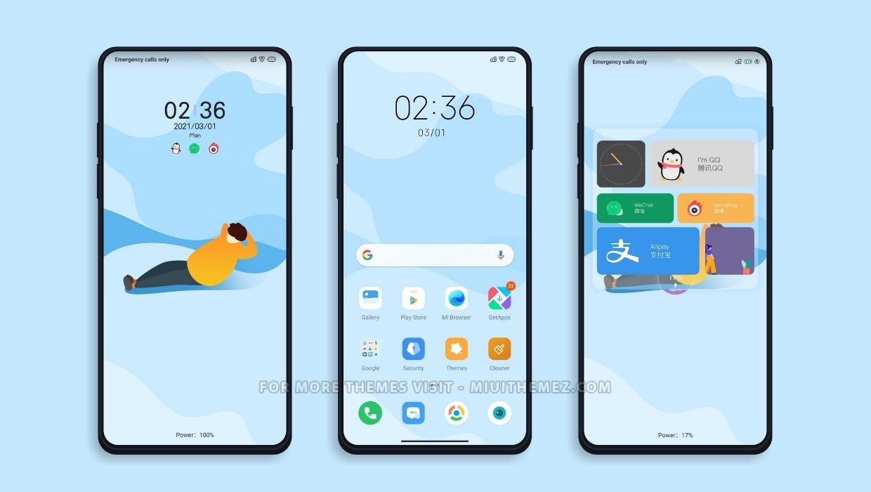 Wake up v12 and v11 MIUI Theme