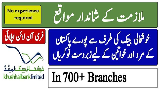 Khushhali Microfinance Bank Jobs 2021