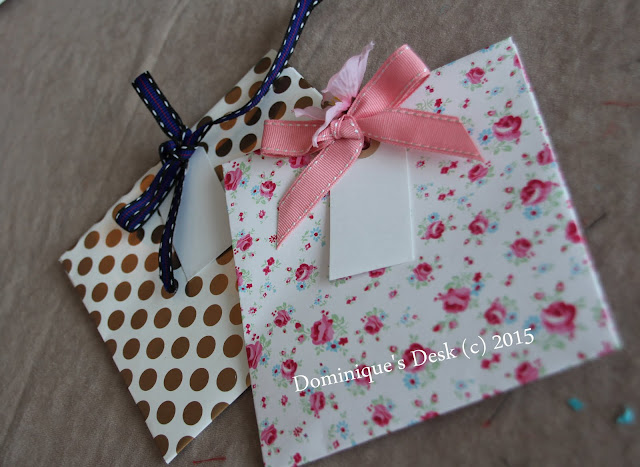 DIY envelopes decorated with ribbons