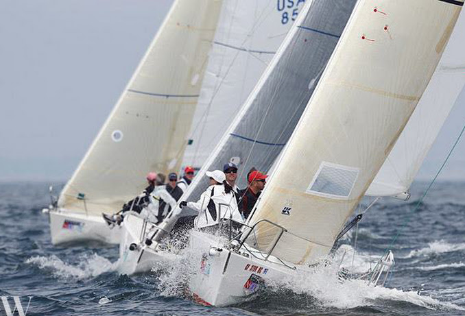 J/105 one-design sailboats- San Diego NOOD regatta