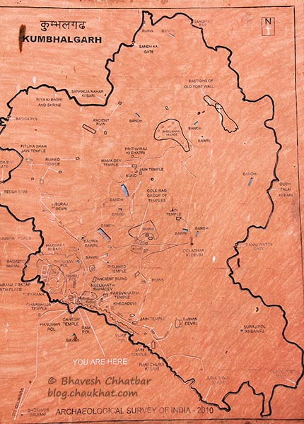 Map of Kumbhalgarh