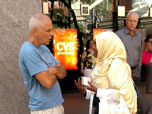 Eric reasoned with this Muslim woman for a good amount of time. She went away with a hard heart. But we believe in faith that God uses the Word we share with people no matter how their reactions appear on the outside.