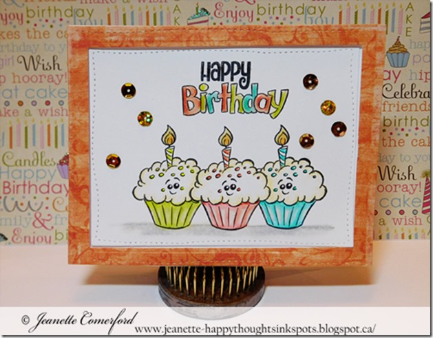 Happy Thoughts Inkspots Whimsy Stamps Cupcake Birthday Card Video