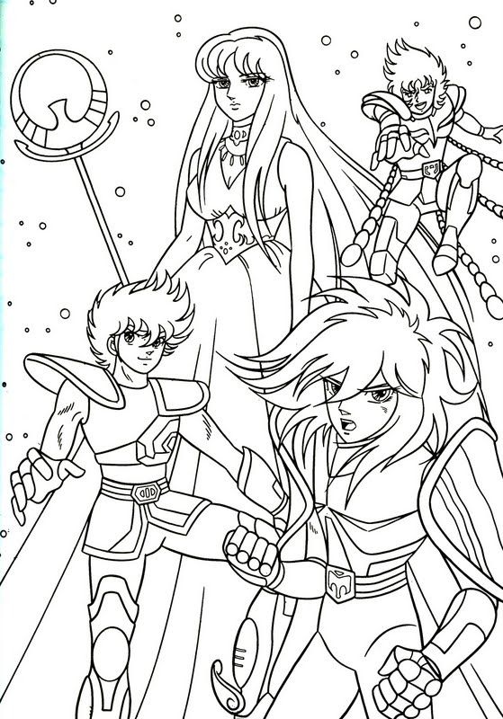 Saint Seiya: Knights of the Zodiac coloring pages