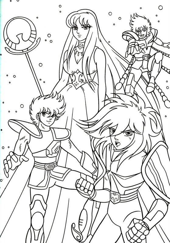 coloriage magique chevalier du zodiaque