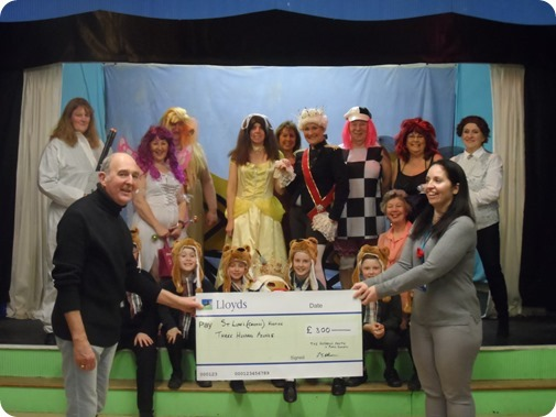 Fred Allman from TAPPS presents the  cheque to Rachel Mellor from St Lukes Hospice