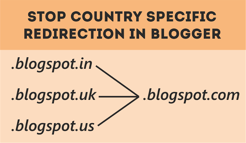 Prevent Blogger from Redirecting to Country Specific URL