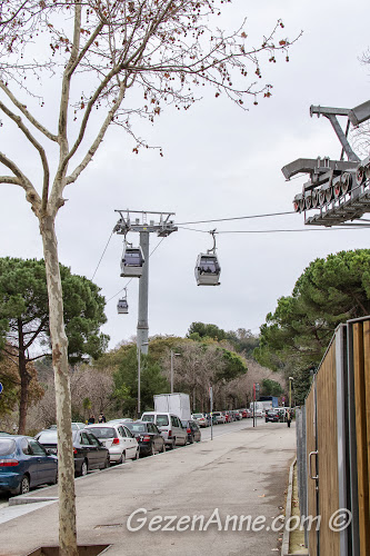 Montjuic'teki teleferikler, Barselona