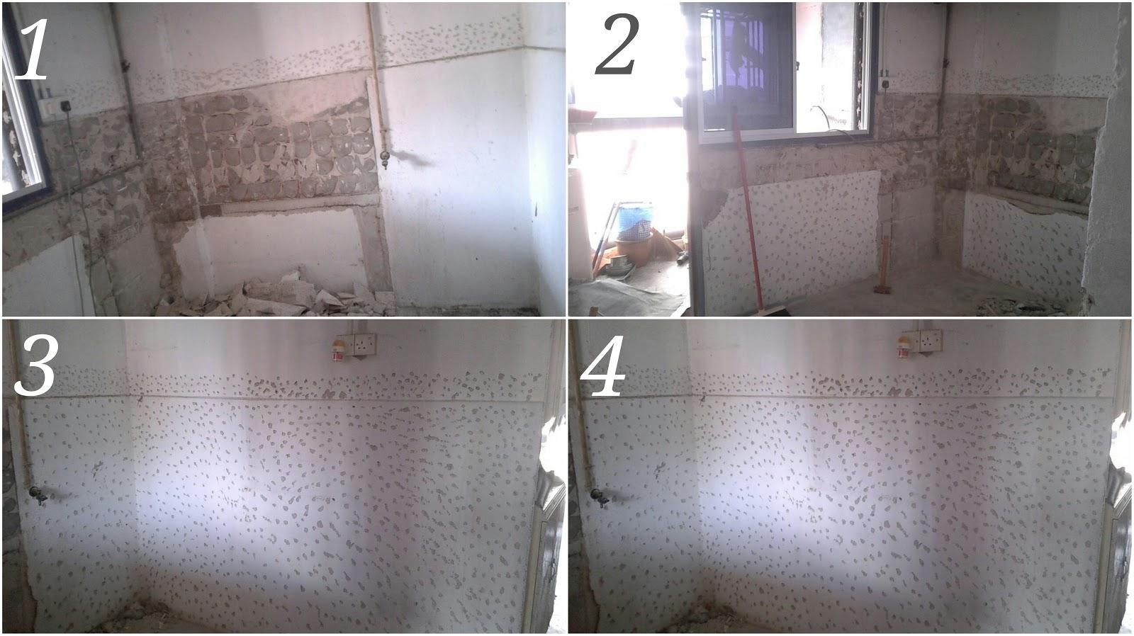 Buat Tabletop Meja Dapur Ukuran 14 Kaki L Shape Di Perumahan Awam Sri Perak Bandar Baru Sentul Kuala Lumpur Siri 1