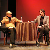 "Cristine M. Loffredo and Jennifer Van Iderstyne in ""The Philadelphia"" as part of THE IVES HAVE IT - January/February 2012.  Property of The Schenectady Civic Players Theater Archive."