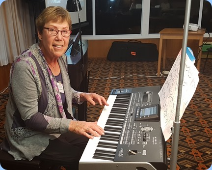 Yvonne Moller playing her Korg Pa3X