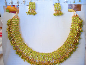 light olive green Indian necklace $10.00